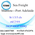 Shantou Port Sea Freight Shipping To Port Adelaide