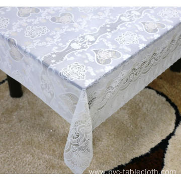 Printed pvc lace tablecloth by roll dryer