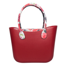 red large summer beach jelly handbags with zipper