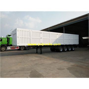 4 Axles 60ton Cargo Box Trailers
