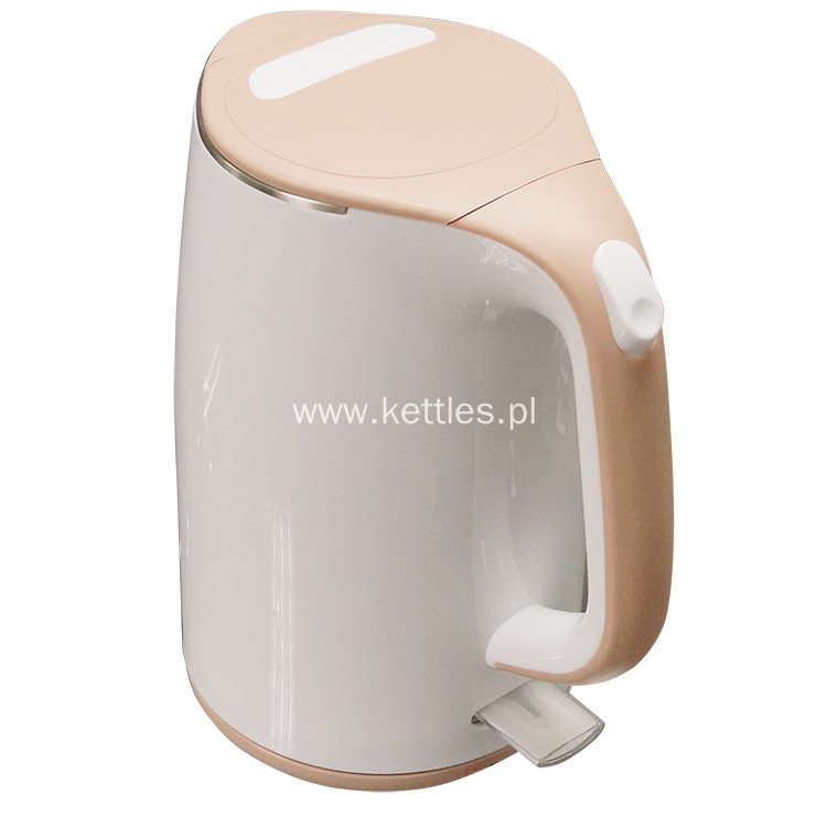 Cool touch white color kettle
