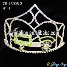 Wholesale Rhinestone Custom Car Shape Crowns For Girls