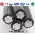 1000v aluminum conductor pvc insulation black abc cable electrical cables