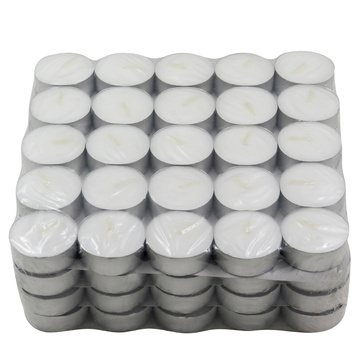 white tea light candle unscent