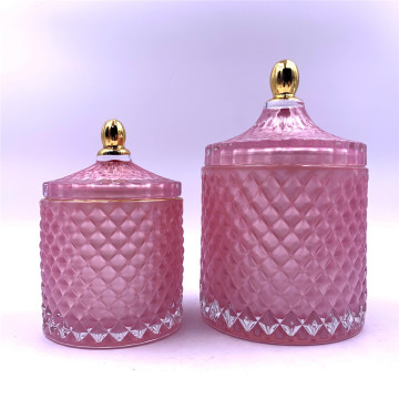pink glass jars for christmas