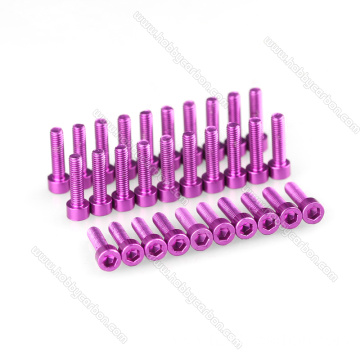 Light Aluminum socket head cap screws metric