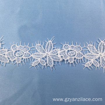 I-White Cluny Modern Lace Trim