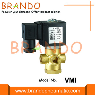 1/4'' 3 Way Brass Solenoid Valve 120V 24V