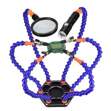 Helping Hands Third Hand Soldering Tool 6 Flexible Arms Six Arm Soldering Station With Swiveling Alligator Clip For RC Drone