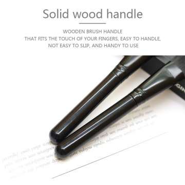 Single Black Wood Handle Synthetic Hair Makeup Brush