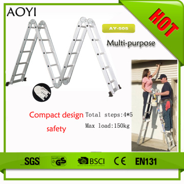 5step 5.7m aluminum folding ladder