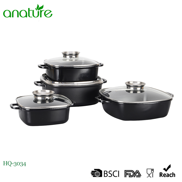 Square Die Cast Non Sticking Aluminum Stock Pot