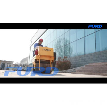 Walk behind mini single drum compactor road pedestrian vibratory roller FYL-600
