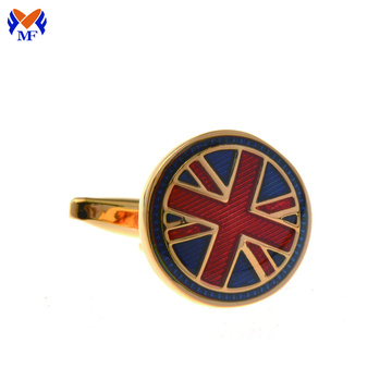 Design country flag cufflink for men shirts