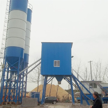 Commercial 50m3 / h concrete mixing plant equipment