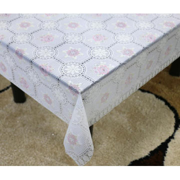 Printed pvc lace tablecloth by roll summer