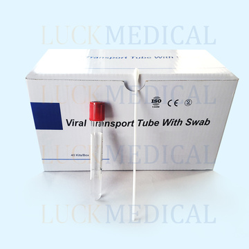 Disposable viral transport kit sampling collection