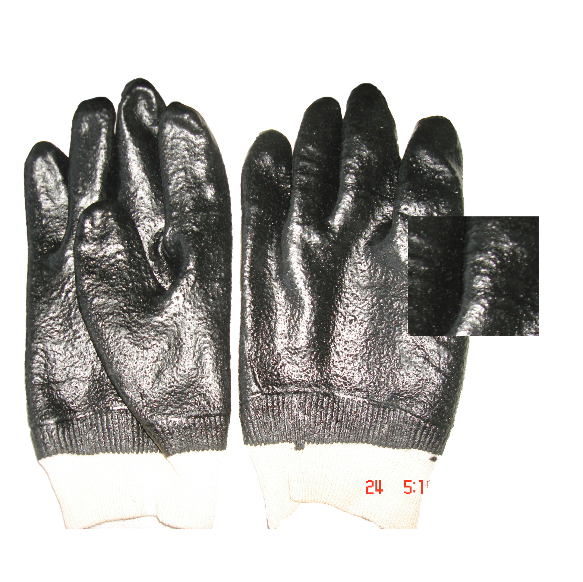 Anti-oil PVC coated gloves