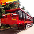 Tri Axle 40ft Container Semi Flatbed for Sale