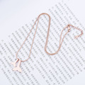 Custom Rose Gold Whale Tail Necklace For Her