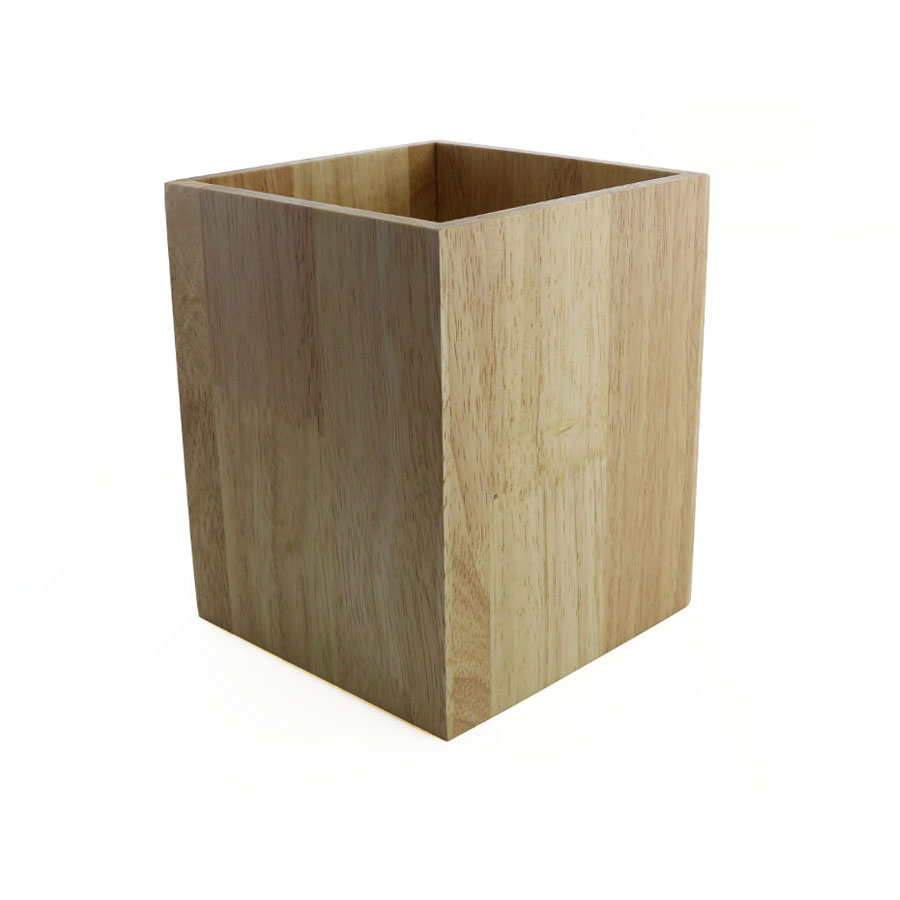 wood utensil holder