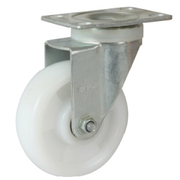 White PP Light Duty Casters