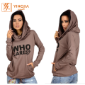 High Quality Women Long Sleeve Printed Letter Hoodies