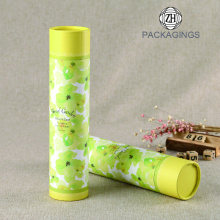 Custom yellow paper tube packaging box