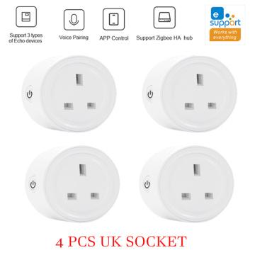 EWelink ZigBee UK Socket Plug WiFi Smart Socket Power Plug Outlet Remote Control Works With Amazmart Home Compatible With Google