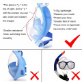 Practical professional silicone diving mask and snorkel