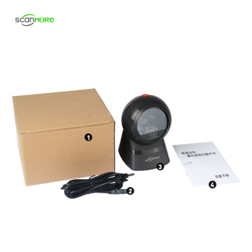 Desktop flatbed 1D omnidirectional laser barcode scanner