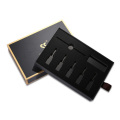 cosmetic black kraft paper sliding drawer box packaging