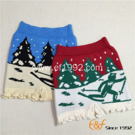 Ski Pattern Thick and Warm Marshmallow Underwear Shorts