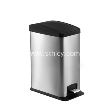 Rectangular Stainless Steel Garbage Can