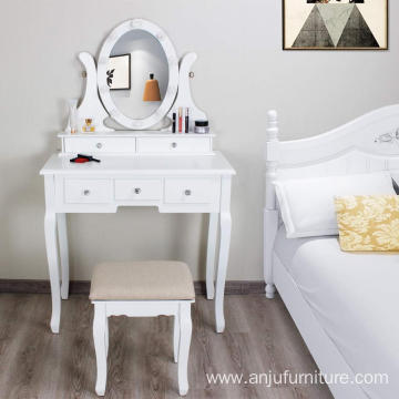 New design Cheap Dressing mirror with 10 LED Lights Makeup Dresser Table