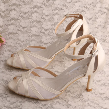 Summer White Heeled Sandals Women Wedding