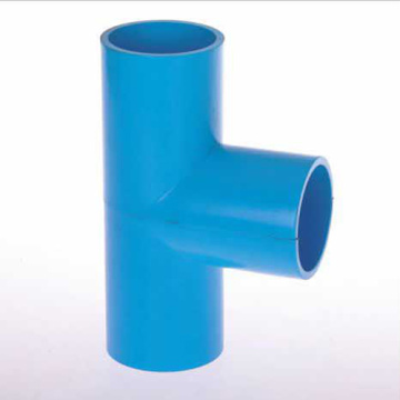 UPVC JIS K-6743 Pressure Tee Blue Color