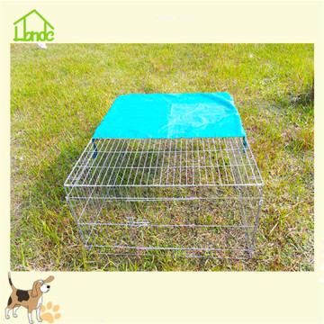 Foldable rabbit cage hot dip galvanized pet cage