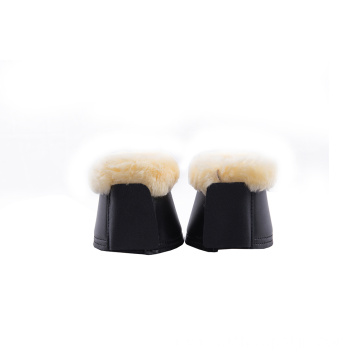 Sheepskin Bell Boots Over Reach boots