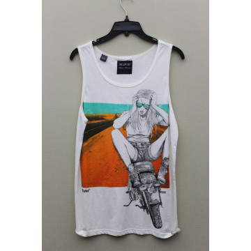 ladies' vest for front print