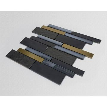 Black gold series simple wind glass mosaic tiles