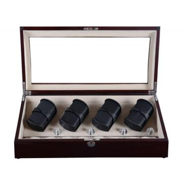 Four Rotors Watch Winder Box Walnut
