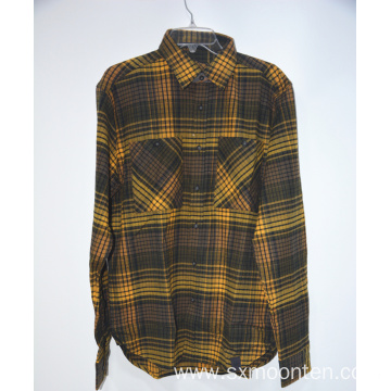 Cotton Men's Flannel Long Sleeve Casual