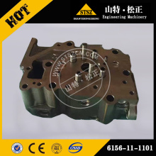 cylinder head 6156-11-1101 for komatsu PC400-7 engine