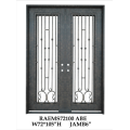 Fancy Wrought Iron Double Doors by Handicraft