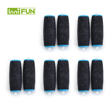 Hot 10pcs Replacements Roller Heads For Pro Pedicure Foot Care Tool Scholls Feet Electronic Foot File Rollers Skin Remover