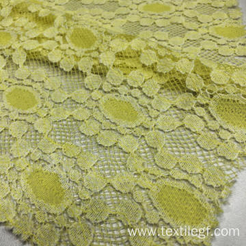 Lace Knitting Fabric (Yellow)