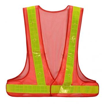 Hot selling V style Polyester reflective safety vest