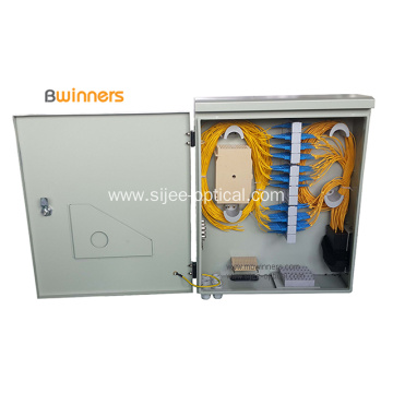 Wall Mounted Fiber Optic Distribution Box 72 Cores