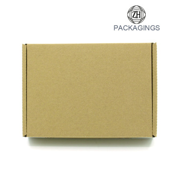Craft matt shipping box with printed logo